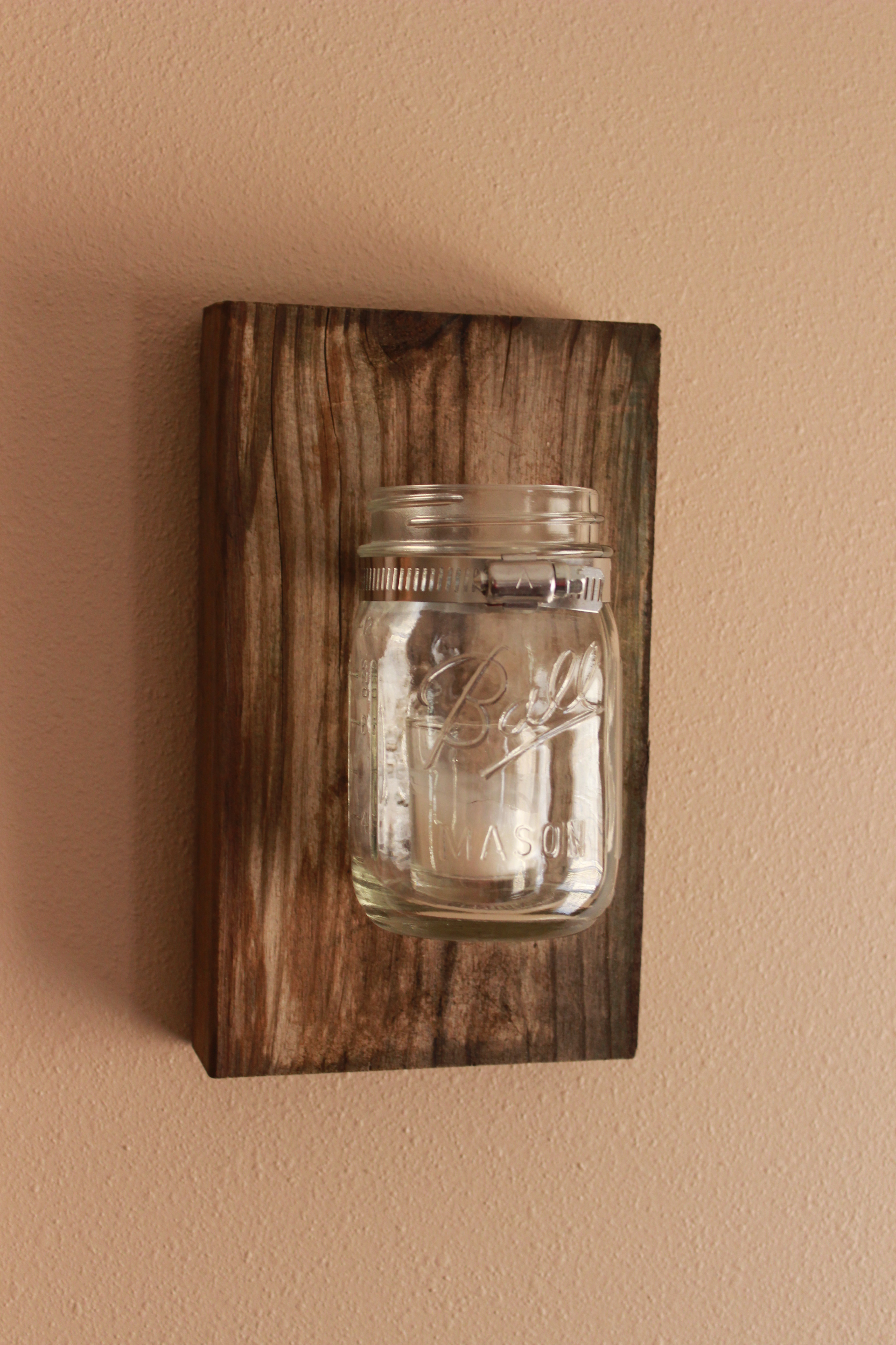 Diy mason jar wall decor the hamby home - Wall decoration lights ...