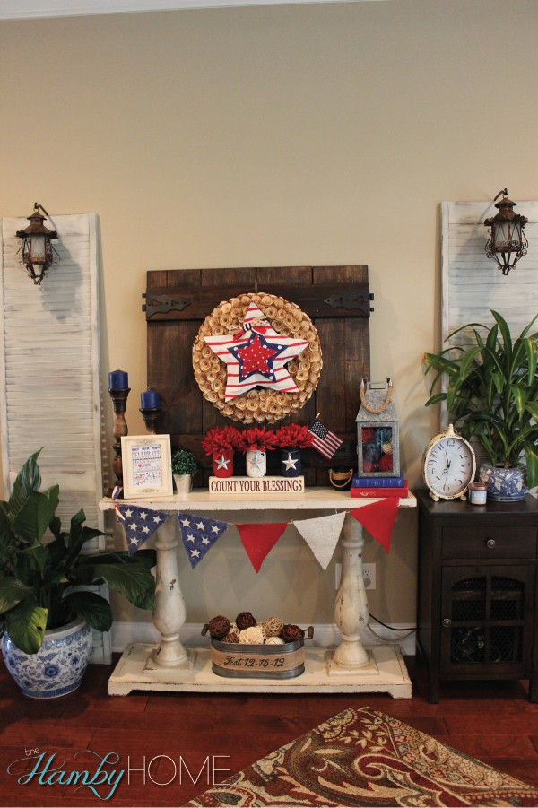 my budget friendly patriotic vignette the hamby home